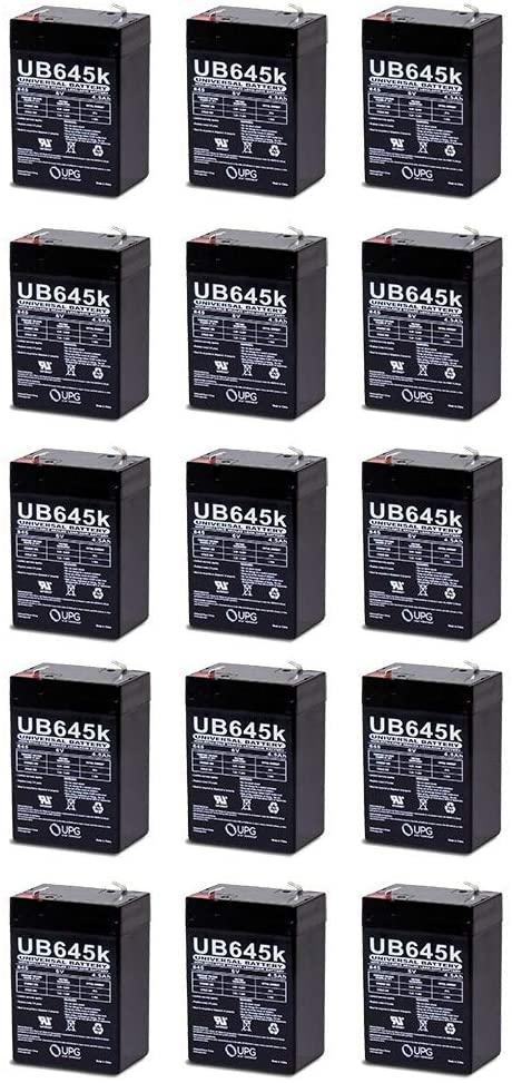Universal Power Group 6V 4.5Ah Streamlight Vulcan 44007 Sho-me Repacement SLA Battery - 15 Pack