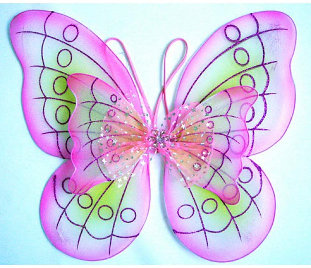 Cutie Collections Purple Butterfly Costume Dress-up Wings,One Size (Pink)