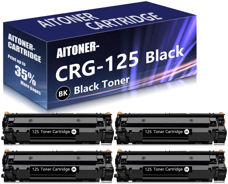 4 Pack Black Compatible for Canon Cartridge 125 Toner Cartridge Replacement for Canon ImageCLASS LBP6000 MF3010 LBP6030w Printer Toner Cartridge, Sold by AlToner.