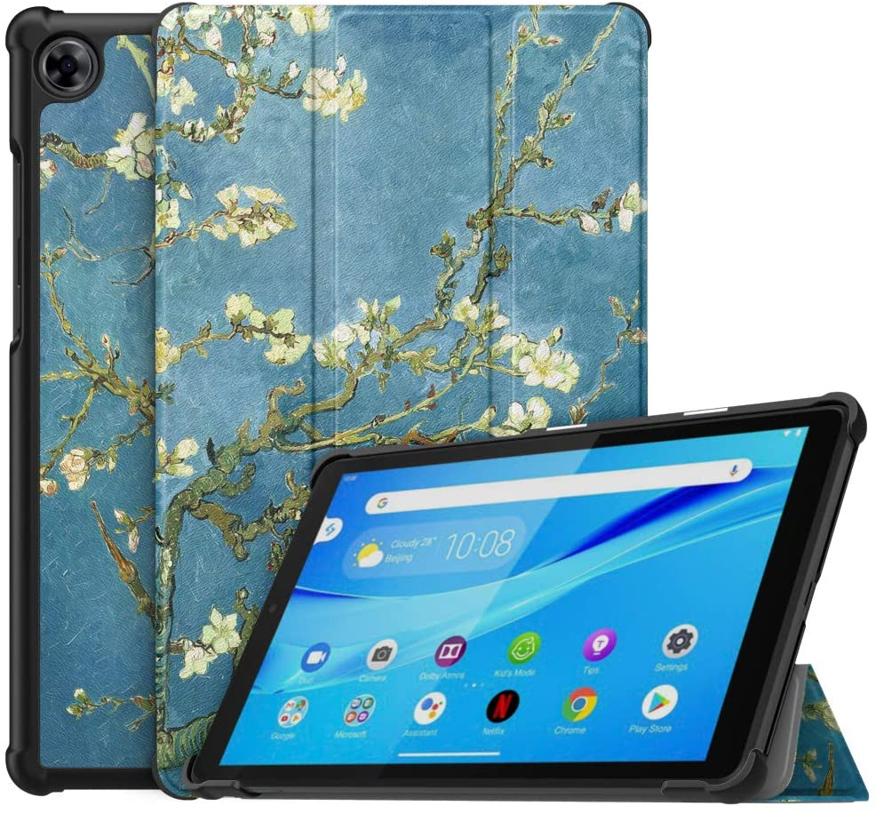 MoKo Case Compatible with Lenovo Tab M8 (TB-8505F), Slim Lightweight Smart Shell Stand Cover Case Fit Lenovo Tab M8 (TB-8505F), Not fit Lenovo Smart Tab M8 or Other Models - Almond Blossom