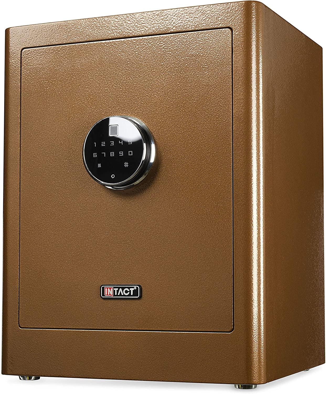 Intact Large Quick Access Biometric Fingerprint Gun Safe With Nex-Gen Full Keypad Module Tall Bronze