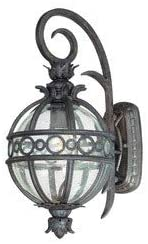 Troy Lighting B5001CB Campanile - One Light Outdoor Wall Lantren, Campanile Bronze Finish with Clear Seeded Glass