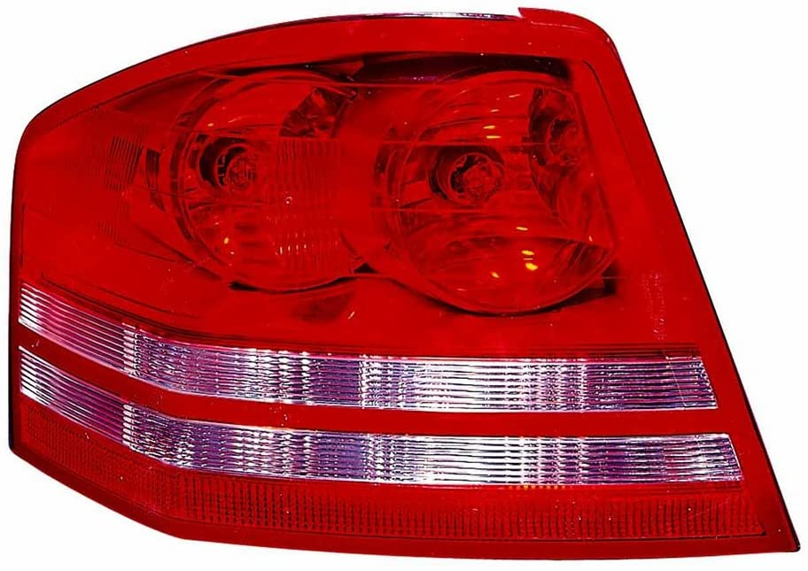CarLights360: For 2009 2010 DODGE AVENGER Tail Light Assembly Driver Side w/Bulbs - (DOT Certified) Replacement for CH2800182