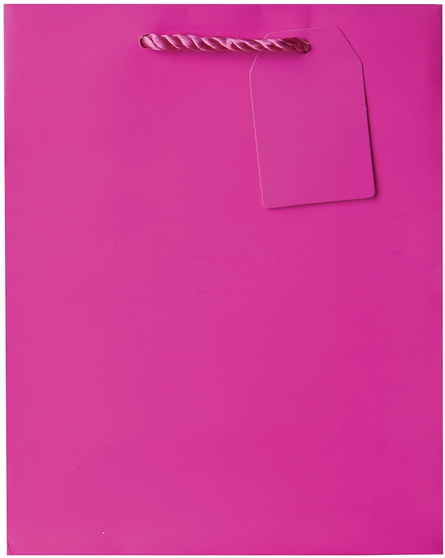 Jillson Roberts Bulk Medium Gift Bags Available in 19 Colors, Magenta Matte, 120-Count (BMT910)