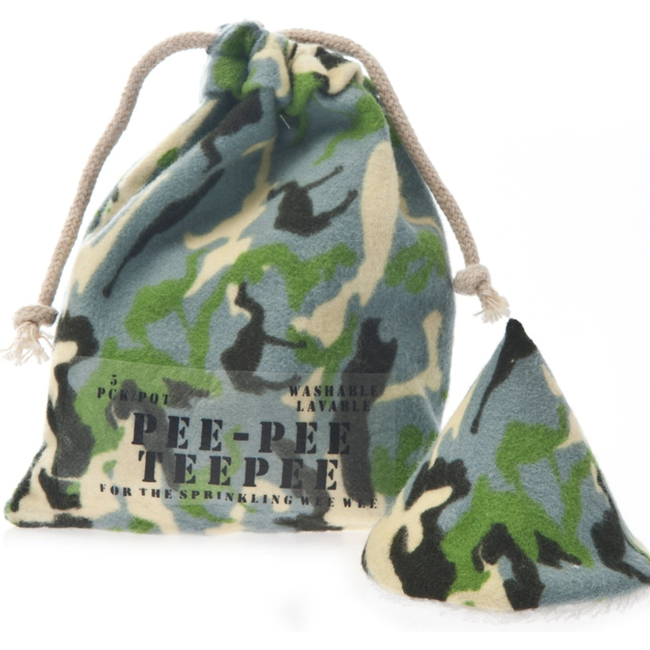 Pee-Pee Teepee Camo Green - Laundry Bag