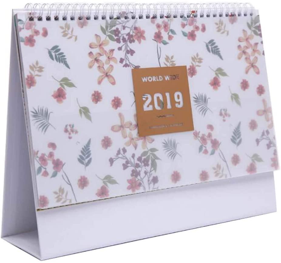 Simple 2019 Desktop Calendar,Office Decoration,Plan Book,Business Notebook,#01