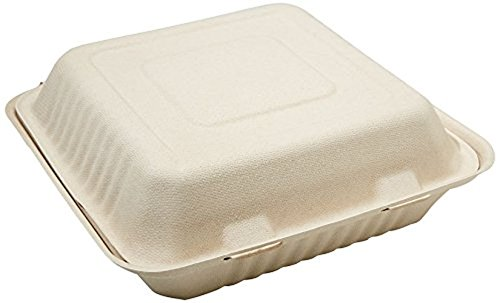 Your Green 2 Go YG2G-CS200 Disposable Tableware Single-Compartment Clamshell, 9
