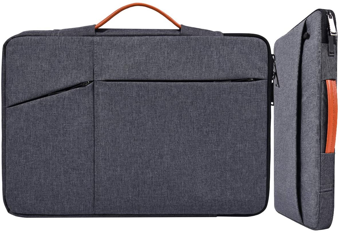 11 12.9 Inch Waterproof Laptop Case Sleeve Briefcase with Handle Handbag for Acer R11 11.6 Chromebook, Dell XPS 13, HP Envy X360 11.6, Samsung Chromebook 3, Lenovo Asus HP Chromebook Carrying Bag,Gray