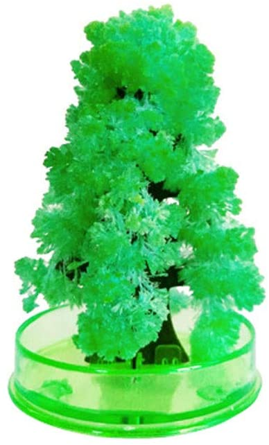 【USA in Stock】 Magic Christmas Tree Paper Growing Crystal in Just Sevaral Hours Novelty Christmas Oranment Tree Presents Kit for Kids Funny Educational Party Toys, DIY Xmas Decorations (Green)