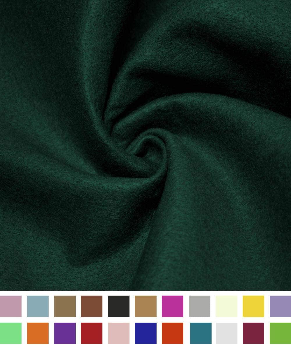 Barcelonetta   Acrylic Felt Fabric   72 Inch Wide   1.5mm Thick   DIY Arts & Crafts, Sewing, Cushion and Padding (Hunter Green, 1 Yard)