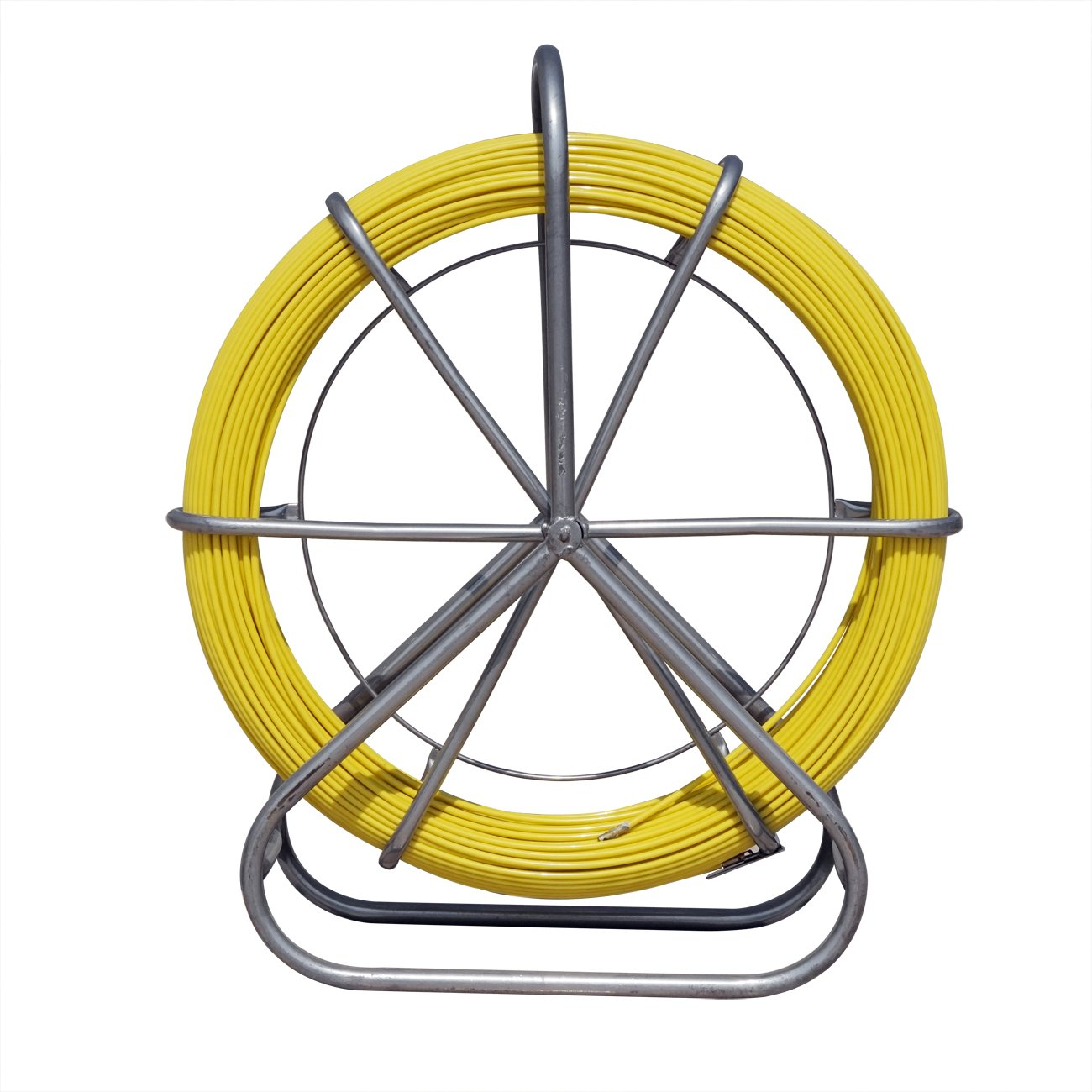 Fish Tape Fiberglass Pulling Wire Cable Running Rod Duct Puller Tool 130M 6MM