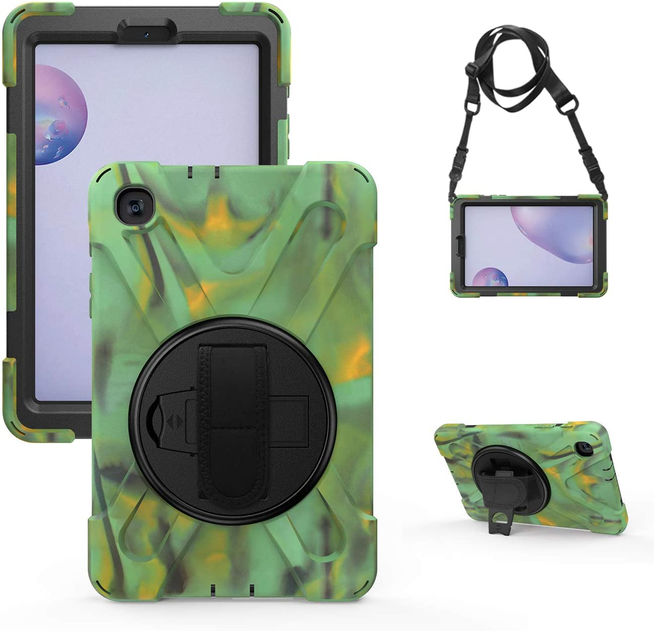 Rosestar Rugged Case for Samsung Galaxy Tab A 8.4 2020 Kids Friendly Shockproof Heavy Duty Protective 8.4-inch SM-T307 Cover with Rotatable Handle/Mount Stand/Adjustable Shoulder Strap