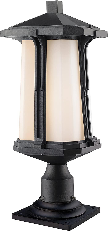 Z-Lite 542PHB-533PM-BK 1 Outdoor Pier Mount Light, Black