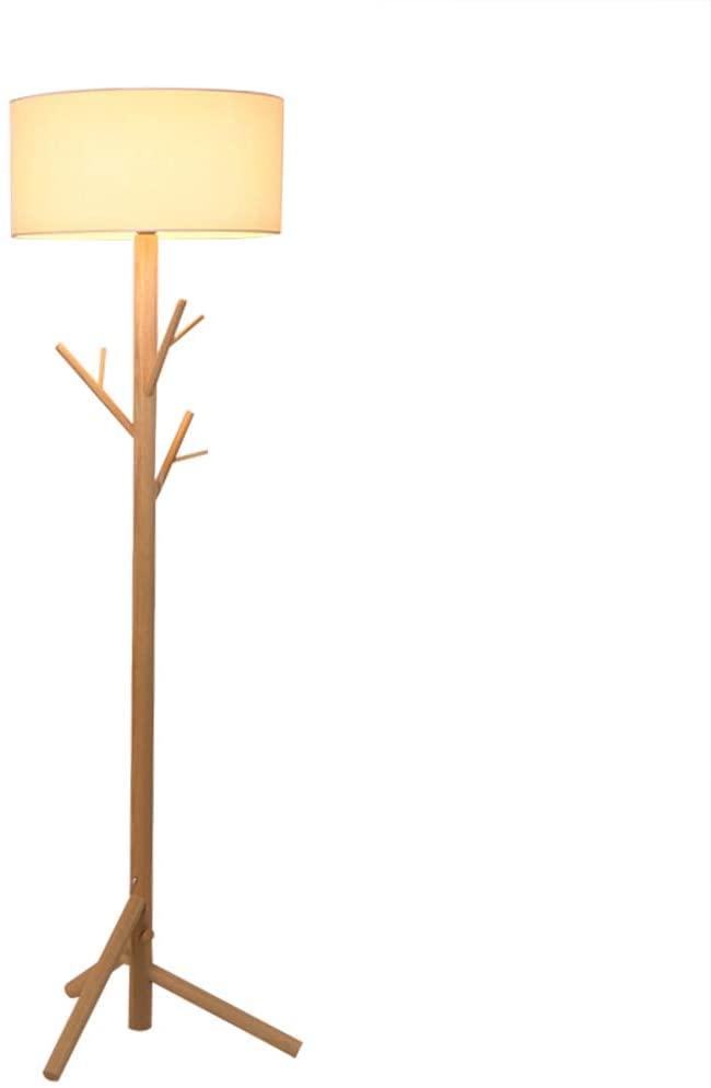 Floor Lamp, Sanguinesunny Solid Wood Tree Hanger Floor Lamp Light Fixture Indoor Bedroom for Clothes Scarves and Hats,Coat Hangers,Coat Rack,110V-220V