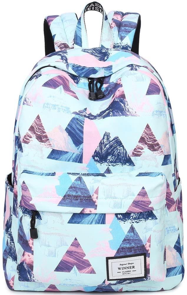 School Backpack Laptop Bag Girls Kids Boys Teens Bookbag Travel Daypack Geometry