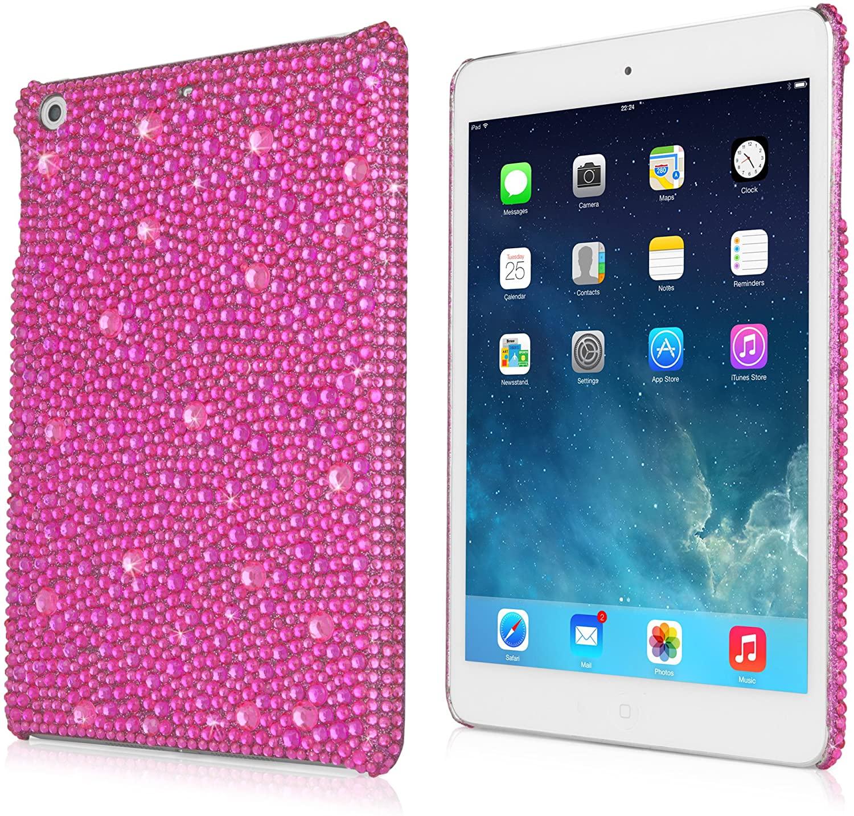 iPad Mini 3 Case, BoxWave [SparkleMe Case] Sparkling Girly Cover w/Crystal Gemstones for Apple iPad Mini 3, with Retina Display - Pink Sapphire