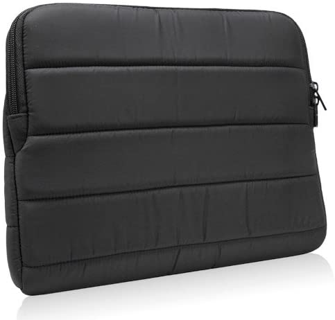 BoxWave iPad 3 Case, [Polar Jacket] Puffy Padded Material Zip Up Sleeve for Apple iPad 3 - Jet Black
