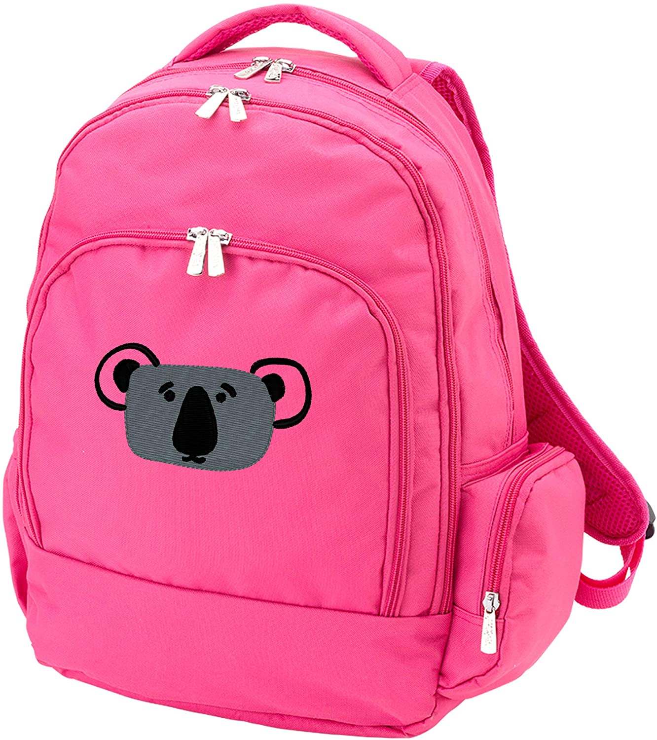 Personalized Kids Backpack with Cute Animal Design | Back to School Kids Gift(Koala/hotpink)