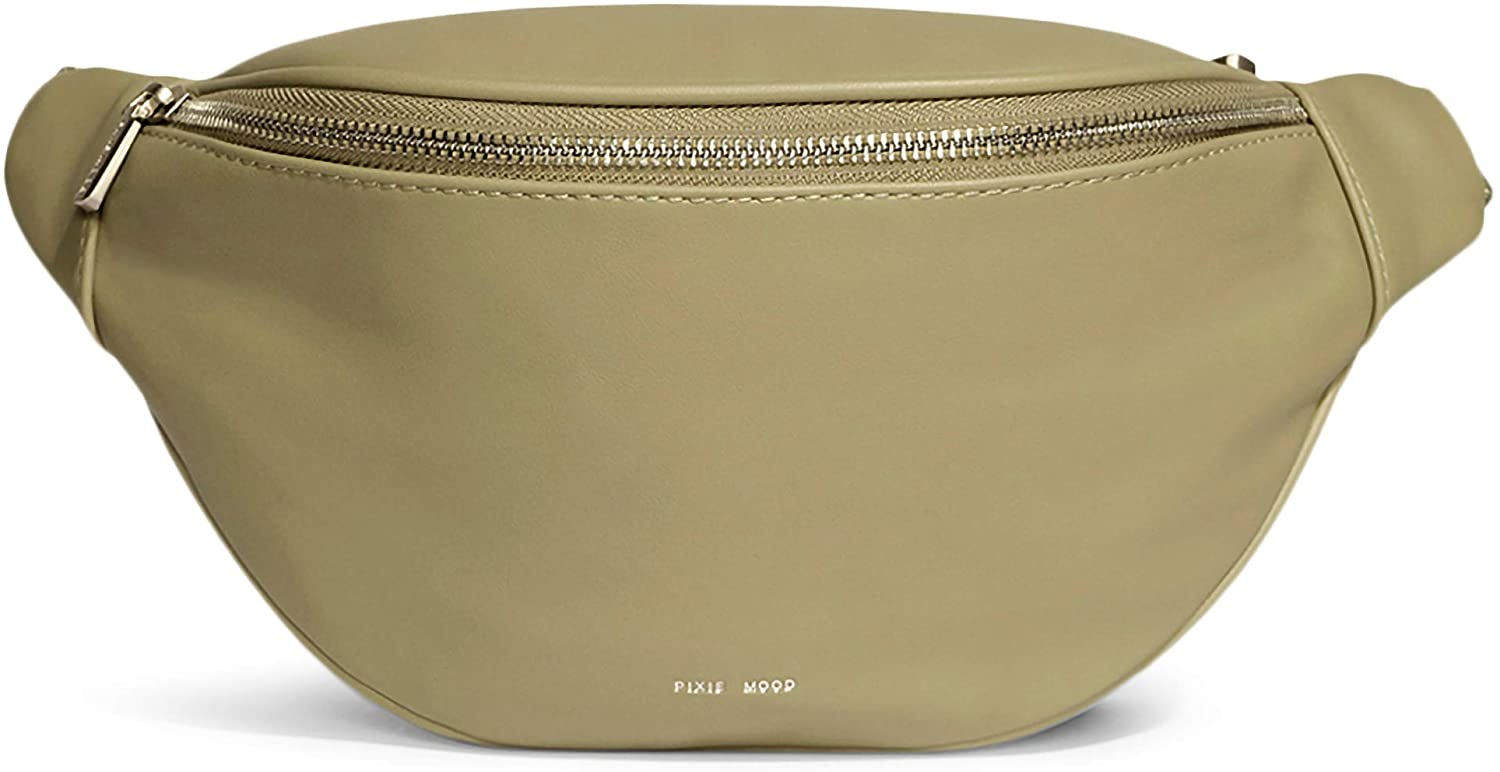 Pixie Mood Gina 13.25 x 6.25 Vegan Leather Fanny Pack Bum Bag, Sage