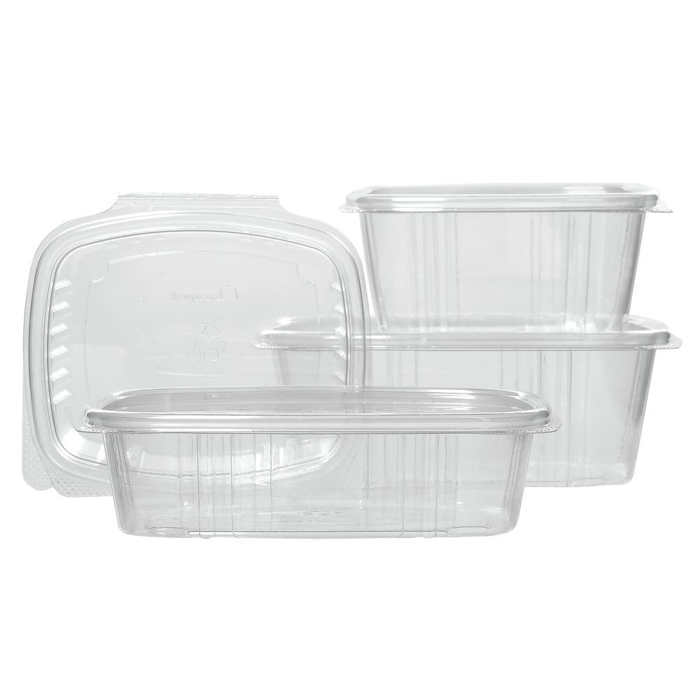 Carryout Food Container Hinged 8 oz Deli - 5 3/8