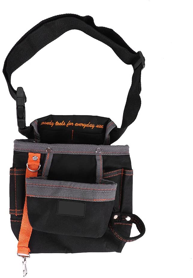 DEWIN 8 Pockets Belt Tools Bag,Adjustable Portable Pouch for Electrician(Grey)