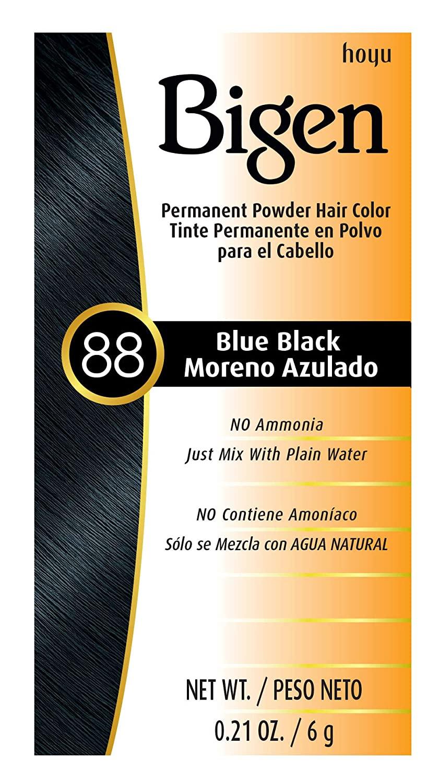 #88 Blue Black Bigen Permanent Powder (3 Pack)