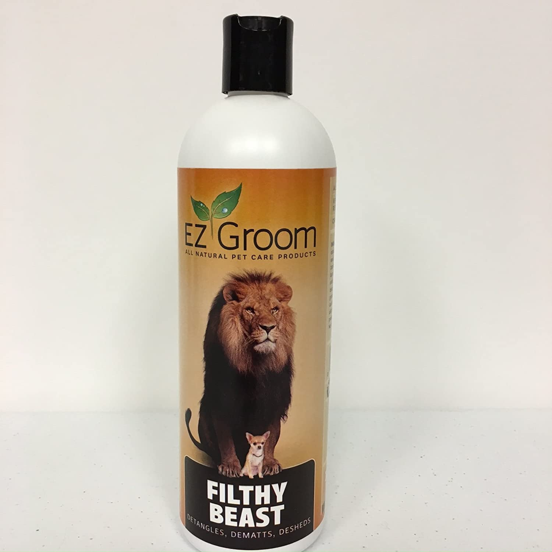 EZ-Groom Filthy Beast Detangler/De-Matting Shampoo - 16 OZ