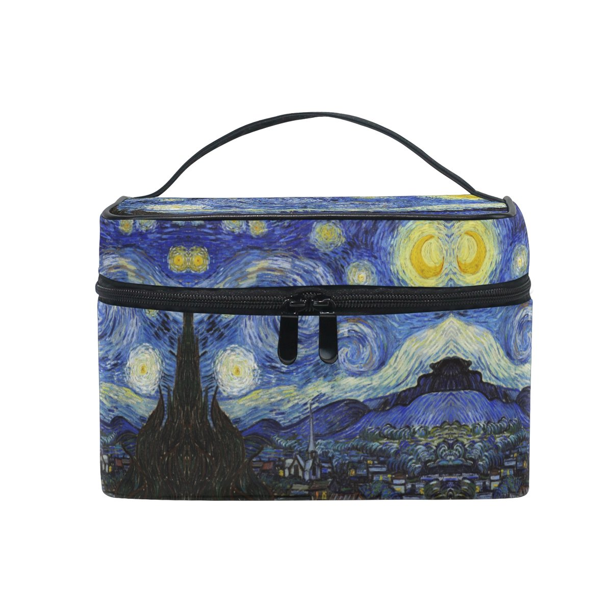 Makeup Bag Night Sky Painting Travel Cosmetic Bags Organizer Train Case Toiletry Make Up Pouch