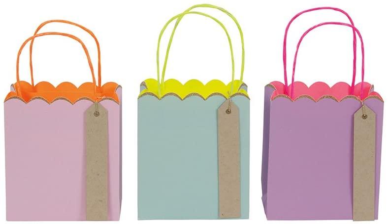 Meri Meri, Pastel & Neon, Small Gift Bag - Pack of 3
