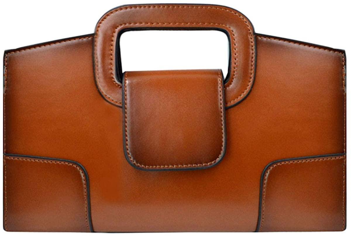 Buddy Top Handle Satchel Women Vintage Flap Tote Clutch Handbag Crossbody Shoulder Bag Purse