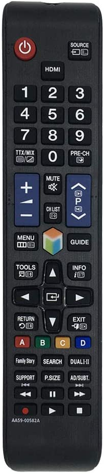 Suitable for Samsung Remote Control AA59-00582A Remote Control Substitute, Replace Samsung TV AA59-00638A AA59-00790A AA59-00580A AA59-00581A AA59-00594A (Smart TV/HD TV/LCD/LED/TV)