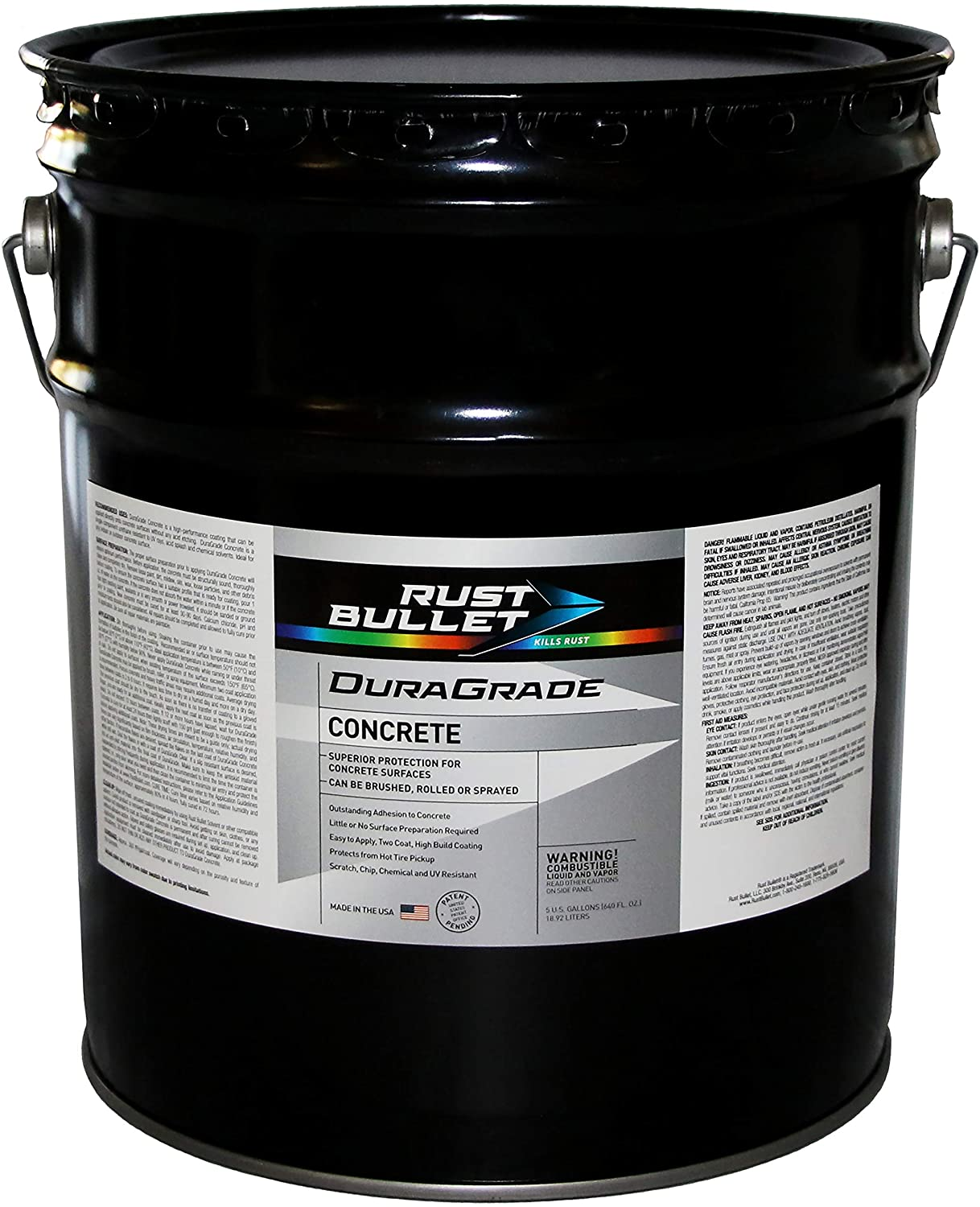 Rust Bullet DuraGrade Concrete High-Performance Easy to Apply Concrete Coating in Vibrant Colors for Garage Floors, Basements, Porch, Patio and More.- (5 Gallons, Pistachio)