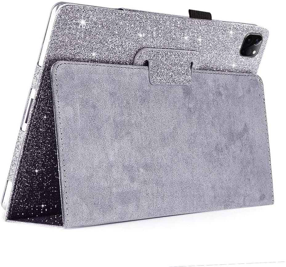 FANSONG Case for New iPad Pro 11 2020/2018, iPad Flip Leather Sparkle Glitter Cases with Pen Slot Stand [Auto Sleep/Wake up] Girls Women Smart Cover for Apple iPad Pro 11-inch(1st & 2nd Gen)