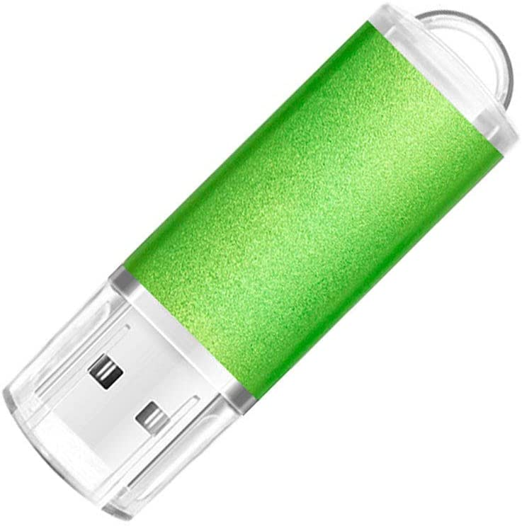 64GB USB 2.0 Flash Drive Thumb Drives Jump Drive Memory Stick with LED Light for Storage and Backup,Green