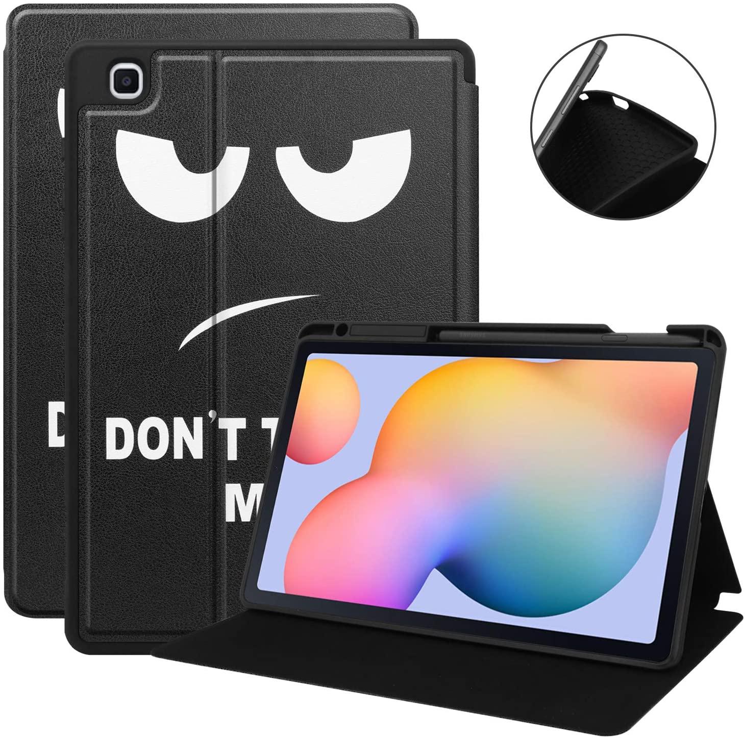 KuRoKo Galaxy Tab S6 lite 10.4 Sleep Case with Pen Holder- Ultra Slim TPU Backshell Folio Stand Cover with Multi-Viewing Angles for Galaxy Tab S6 lite 10.4 SM-P610/P615