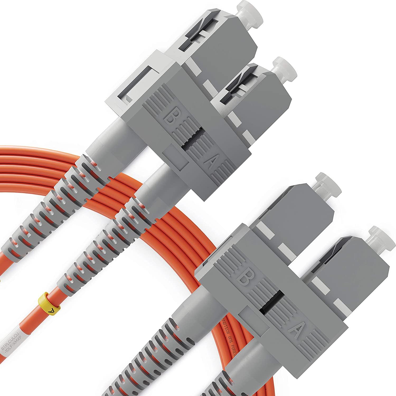 SC to SC Fiber Patch Cable Multimode Duplex - 5m (16.4ft) - 62.5/125um OM1 LSZH - Beyondtech PureOptics Cable Series