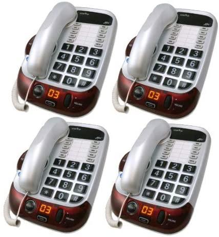 Clarity Alto Digital Extra Loud Big Button Speakerphone- Packs (4 Pack)