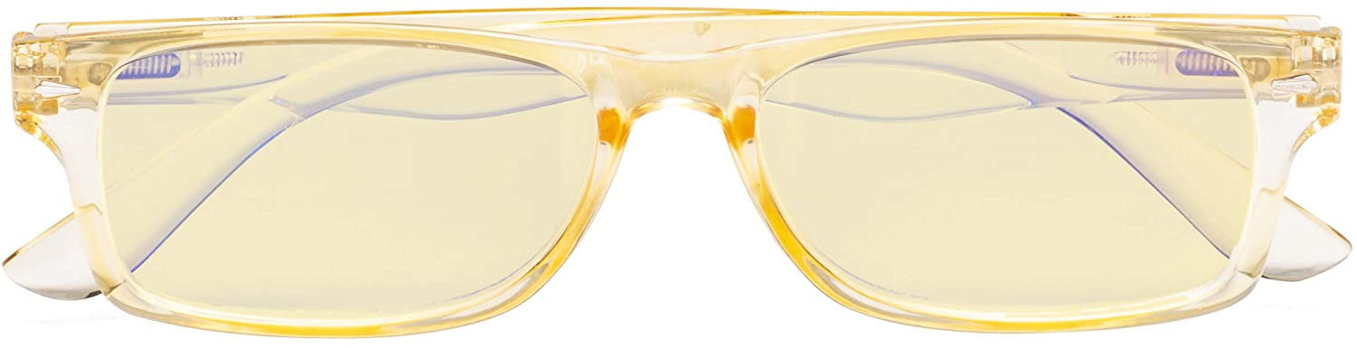 CessBlu Ladies Blue Light Blocking Glasses Anti UV Rays Glare with Yellow Filter Lens for Women Reading Computer Screen