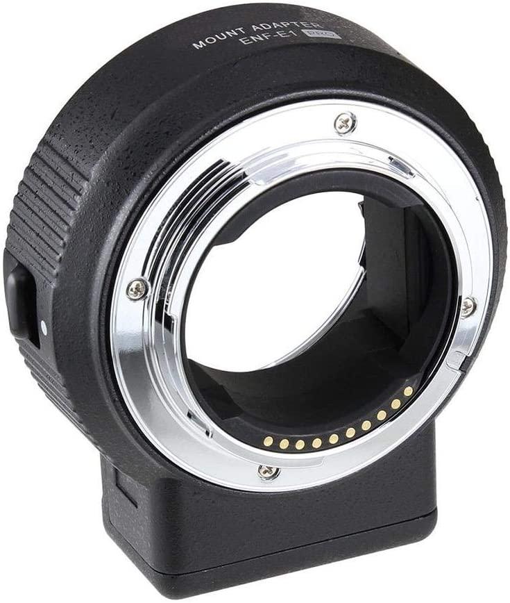 Bracon Lens Mount Adapter - Commlite ENF-E1 PRO V06 Lens Mount Adapter Compatible with Nikon F Lens to Sony E-Mount