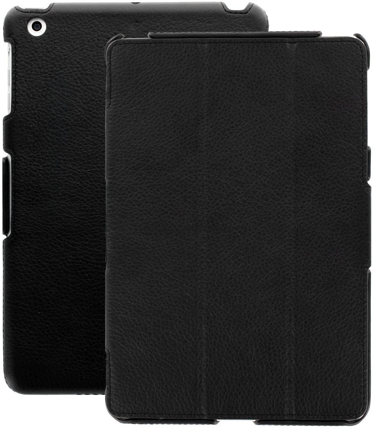 iPad Air 2 - Black PU Leather Executive Cover with Rubberized Back and Smart Feature