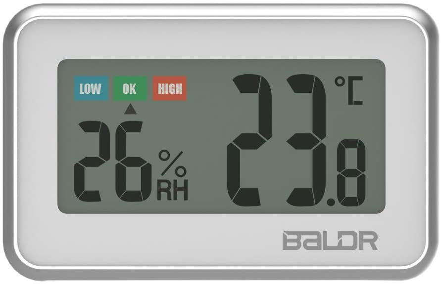Vvciic Vvciic Indoor Thermometer Hygrometer, Digital LCD Thermometer Hygrometer Gauge High Precision Temperature Humidity Meter Mini Refrigerator Thermometer