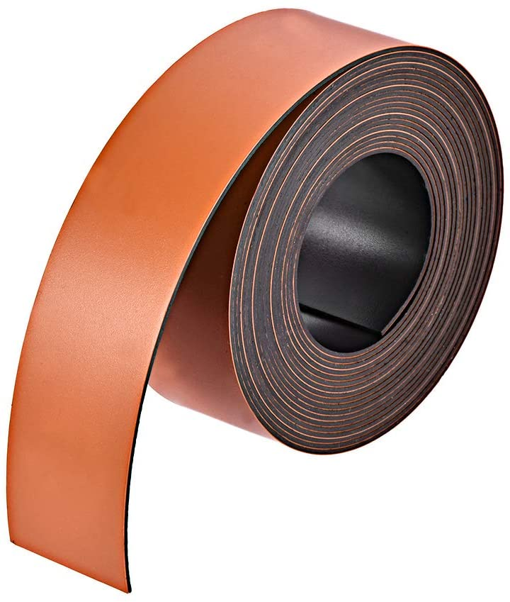 uxcell Orange Magnetic Strip for Crafts, 1 Inch x 9.8 Feet