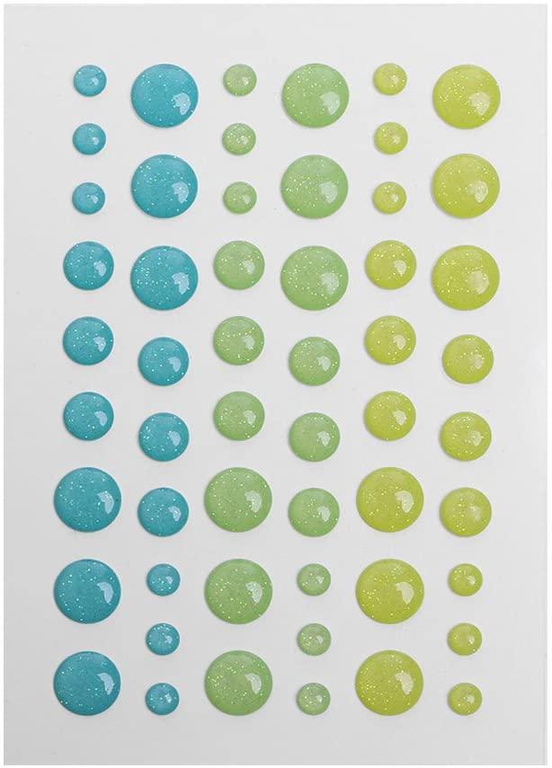 UNTERING Enamel Dot Self Adhesive Embellishment for Cardmaking and Craft Scrapbook DIY