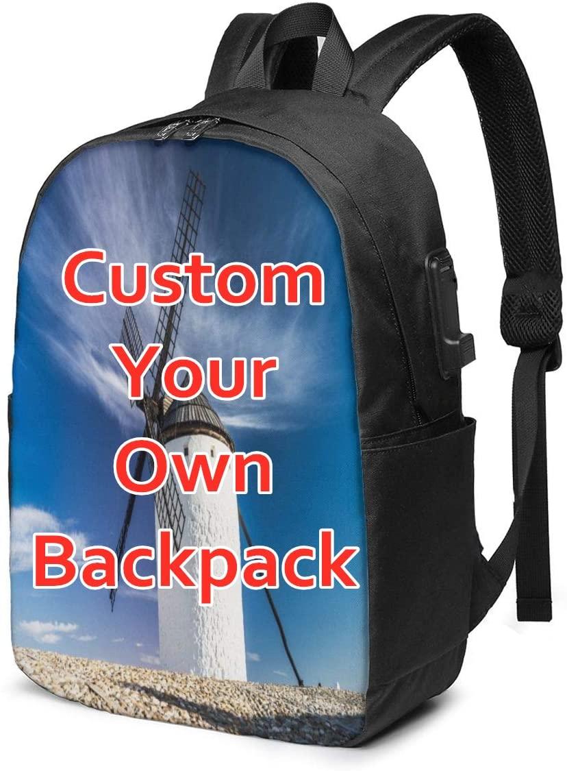 Custom School Backpacks for Men &Women &Teens Large Capacity Shoulder Book Bags Perfect Gifts (Custom 1)