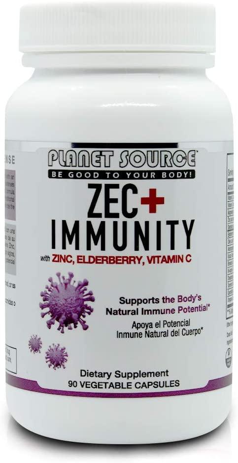 ZEC+ Immunity I Zinc I Vitamin C & D3 I Elderberry I Quercetin I NAC I Complete Immune Support