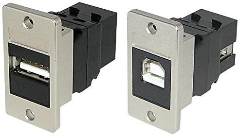 KCUABBKPM - COUPLER, USB 2.0, TYPE A-B, RCPT, BLACK, (Pack of 5)