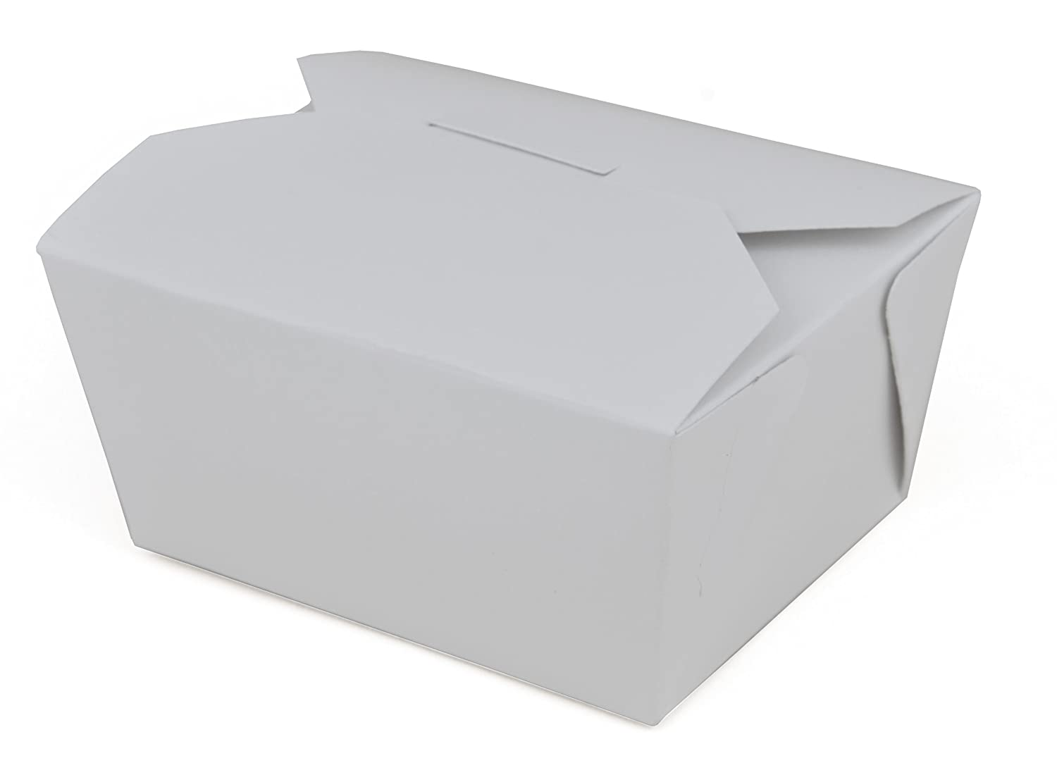 Southern Champion Tray 0771 #1 ChampPak Retro Take-Out Container, White Paperboard with Poly Coated Inside, 4-3/8