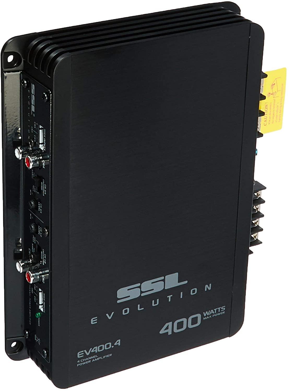 Sound Storm Laboratories EV400.4 Evolution 400 W, 4 Channel, 2 to 8 Ohm Stable Class A/B, Full Range Car Amplifier, Black