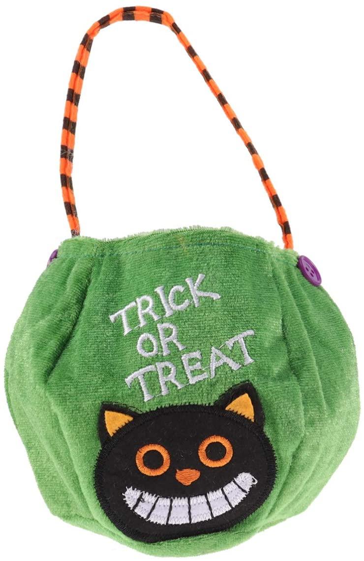 TOPBATHY Pumpkin Candy Handbag Basket Candy Bags Halloween Gift Bag Favor Gift Bags Halloween Party Supplies (Green)