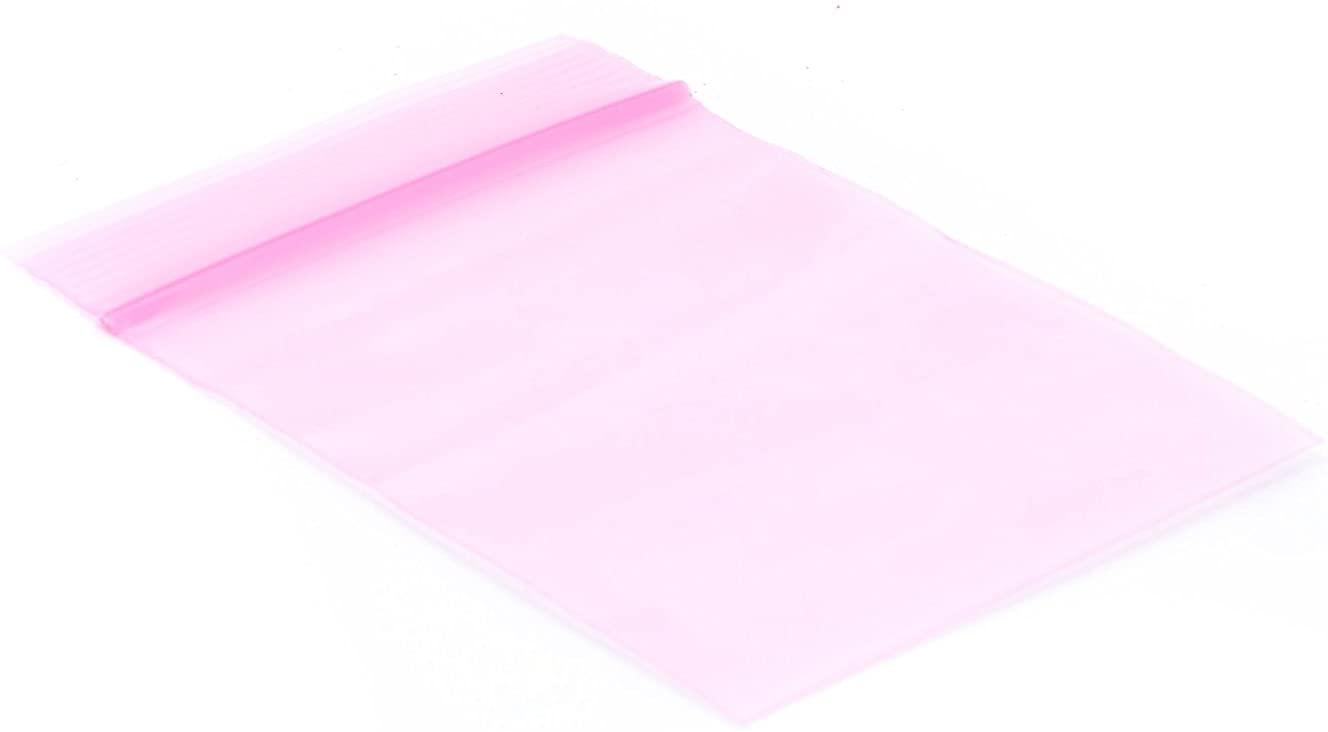 HRX Plastics Pink Anti-Static Seal Top Bag - 8